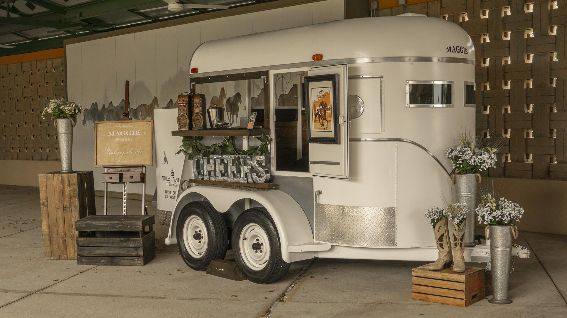 Derby Day After Hours Horse Trailer Bar And Photo Booth